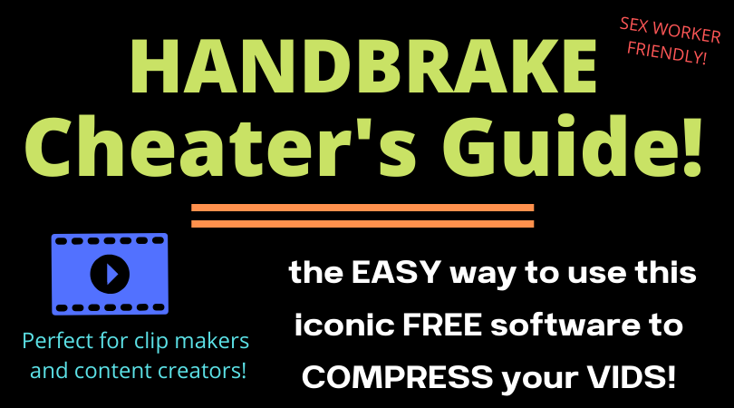 an easy way to use handbrake to compress video